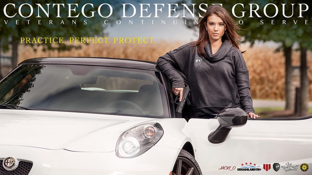 CDG - Jacki_0 with Handgun & Alfa Romeo 4c